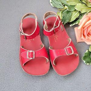 Sun san surfer saltwater sandals red size 10